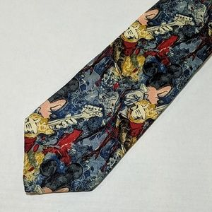 Disney Store Mickey Mouse Guitar Tie